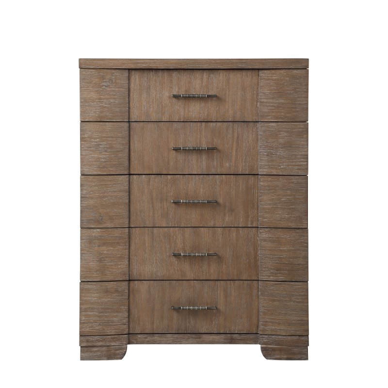 Natural Acacia Chest Of Drawers