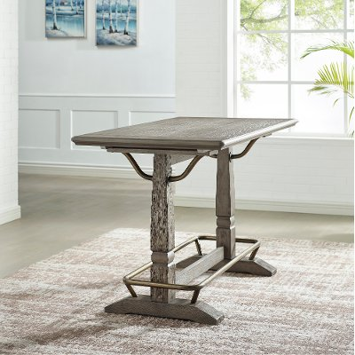 Farmhouse Weathered Gray Counter Height Dining Table - Ryan