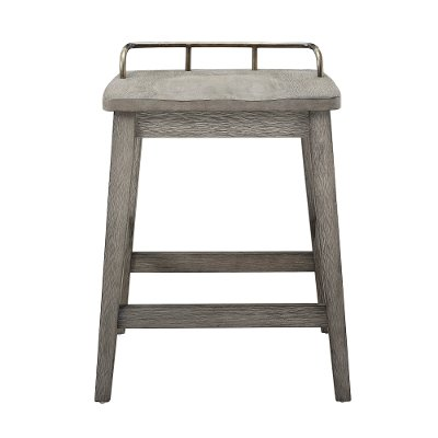Farmhouse Weathered Gray 24 Inch Counter Stool