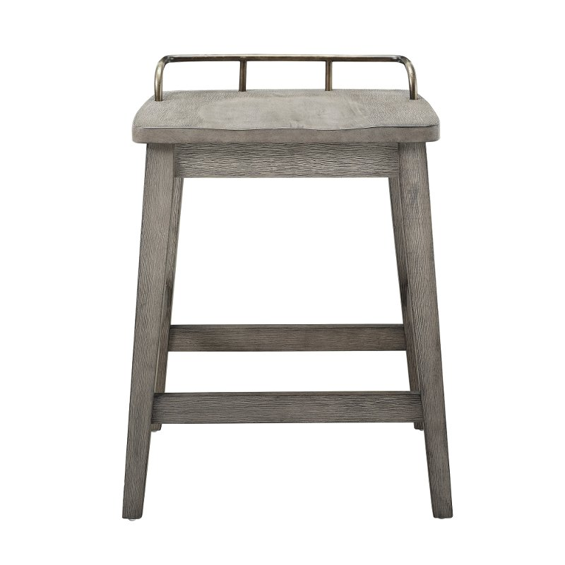Pleasing Farmhouse Weathered Gray 24 Inch Counter Stool Caraccident5 Cool Chair Designs And Ideas Caraccident5Info