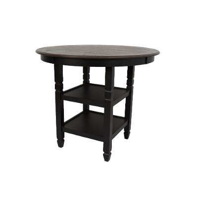 Black Round Counter Height Dining Table - Prairie Point