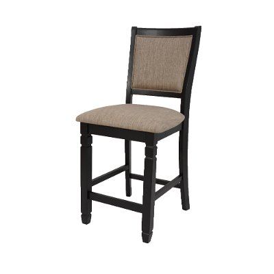 Beige and Black Counter Height Stool - Prairie Point