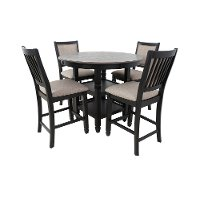 Black 5 Piece Counter Height Dining Set - Prairie Point