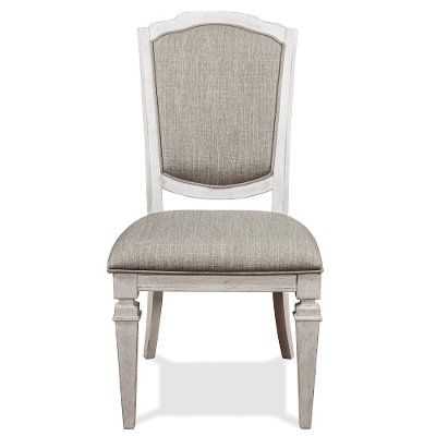 Smokey White Dining Room Chair - Elizabeth