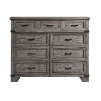 Classic Rustic Pewter Gray Dresser - Forge