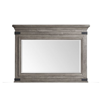 Classic Rustic Pewter Gray Mirror - Forge