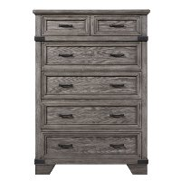 Classic Rustic Gray Chest of Drawers - Forge