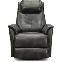 1188-22FSTGRP Modern Graphite Gray Power Swivel Glider Recliner - Jeremy