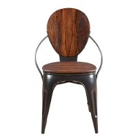 Sheesham and Iron Dining Room Chair - Bradley