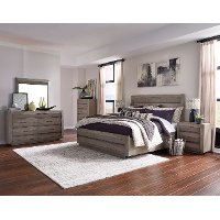 Modern Sandstone 4 Piece King Bedroom Set - Palisade