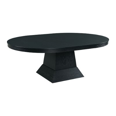 Contemporary Dark Gray Dining Room Table - Maddox
