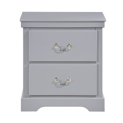 Contemporary Gray Nightstand - Seabright