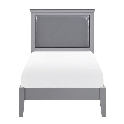 Contemporary Gray Twin Bed - Seabright