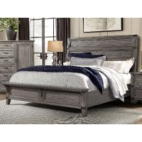 Classic Rustic Gray King Size Bed - Forge
