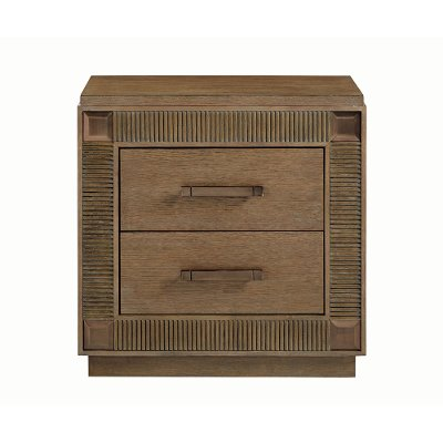 Contemporary Brown Nightstand - Park Avenue