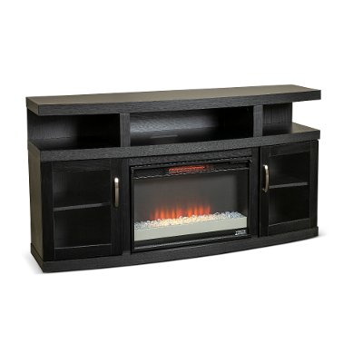 Electric Fireplaces Furniture, Dark Cherry Wood Fireplace Tv Stand
