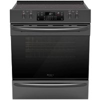 FGEH3047VD Frigidaire 30 Inch Electric Range with Air Fry - 5.4 cu. ft. Black Stainless Steel