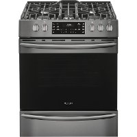FGGH3047VD Frigidaire Gallery 5.6 cu. ft. Gas Slide-in Range with Convection Cooking - 30 Inch Black Stainless Steel
