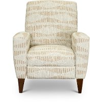28-431/F168036 Sandstone Beige Push Back High Leg Recliner - Scarlett