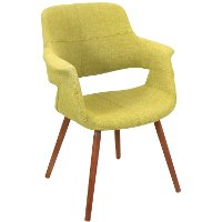 CHR-JY-VFL-GN Green Mid-Century Modern Accent Chair - Vintage Flair