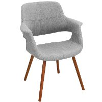 CHR-JY-VFL-LGY Gray Mid-Century Modern Accent Chair - Vintage Flair