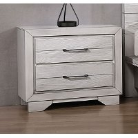 Contemporary White Nightstand - White Sands
