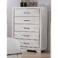 Contemporary White Chest of Drawers - White Sands