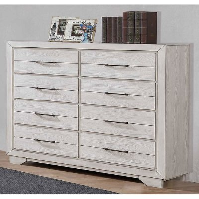 Rustic Contemporary White Gentlemen's Chest - White Sands