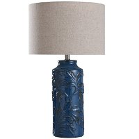 Traditional Blue Ceramic Table Lamp - Mirfield