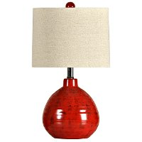 Apple Red Ceramic Table Lamp