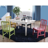 Kids Multi-Colored Table and Chairs Set - Casey