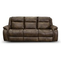Chaps Brown Standard Double Power Reclining Sofa - Essex
