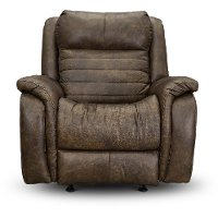 Chaps Brown Standard Power Recliner with Power Headrest - Essex