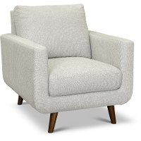 Modern Light Gray Chair - Parker