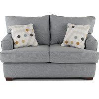 Contemporary Gray Loveseat - City