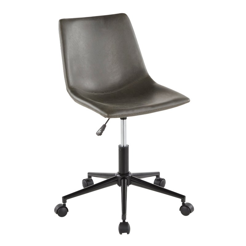 Grey Faux Leather Task Chair