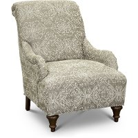 Traditional Taupe Accent Chair - Kelsey