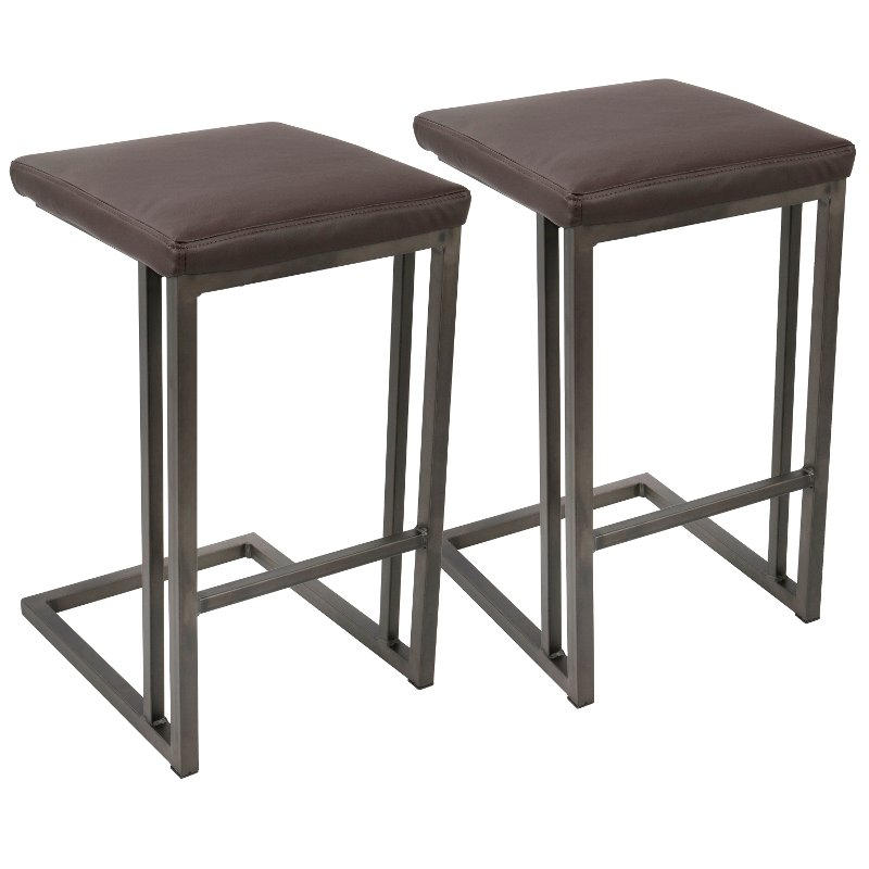 Brown 26 Inch Counter Height Stool Set