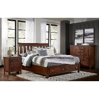 Classic Brown 3 Piece King Bedroom Set - Country Roads