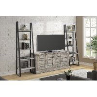 2 Light Gray Bookcase Piers