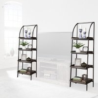 Industrial Black Metal Bookcases - Gatehouse (2)