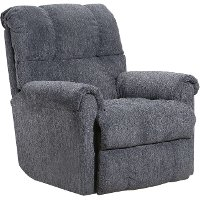 Casual Contemporary Anchor Gray Power Rocker Recliner - Crisscross