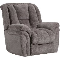 Mink Gray Power Rocker Recliner - Showbiz