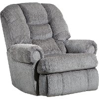 Ash Gray Big and Tall Power Rocker Recliner - Torino