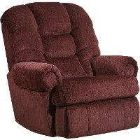 Wine Big and Tall Power Rocker Recliner - Torino