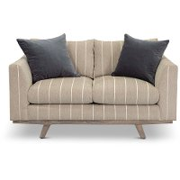 Casual Modern Striped Taupe Loveseat - Bexley