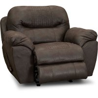 Casual Contemporary Chocolate Brown Recliner - Legend
