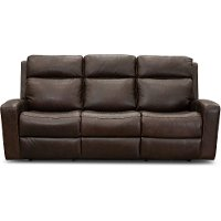 Burnt Umber Leather-Match Power Reclining Sofa - Anchor