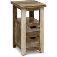 Rustic Pine Chairside Table - Antique Pine