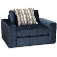 Contemporary Blue Swivel Chair - Link
